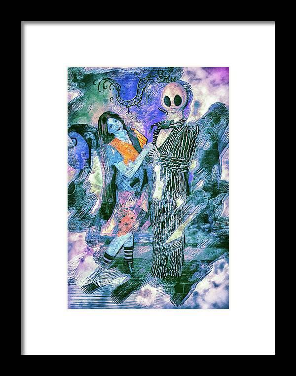 Jack And Sally Framed Print By Pamela Williams