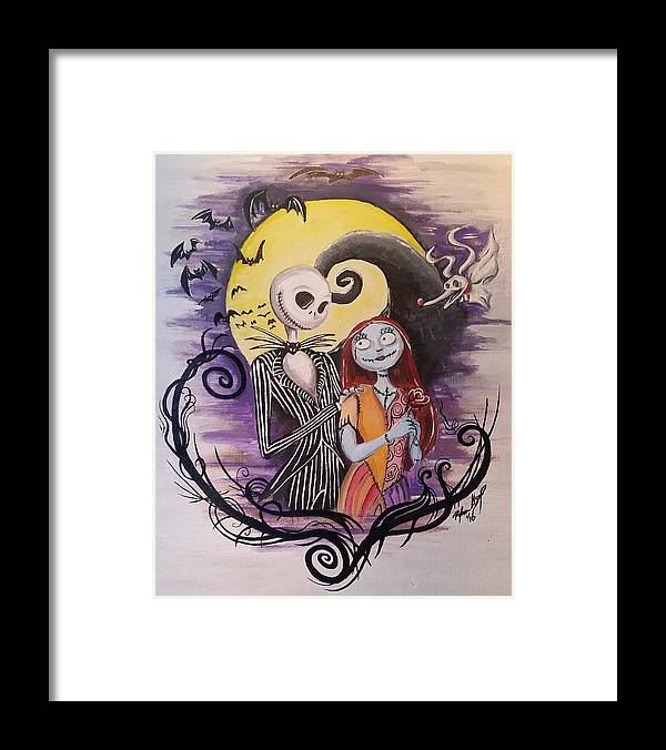 Jack And Sally Framed Print By Ryan Alsup
