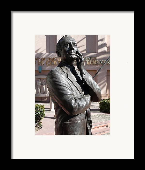 Jack Benny Framed Print featuring the photograph Jack Benny by Jeff Lowe