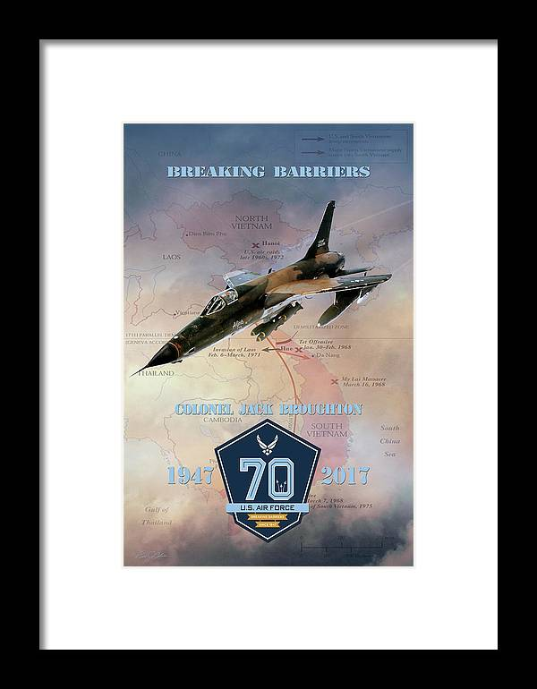 Aviation Framed Print featuring the digital art Jack Broughton Breaking Barriers by Peter Chilelli