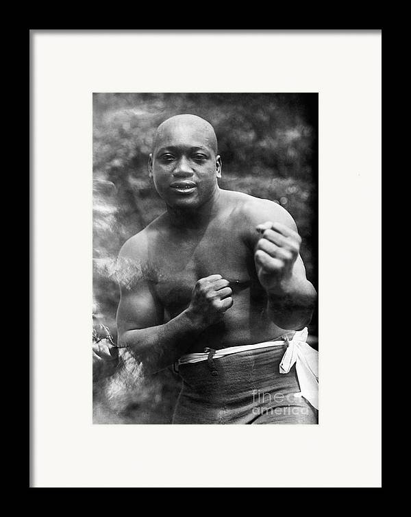 1910s Framed Print featuring the photograph Jack Johnson (1878-1946) by Granger