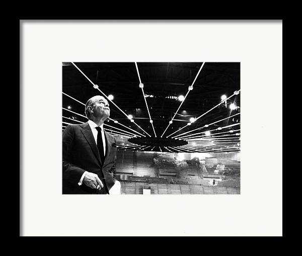 1960s Framed Print featuring the photograph Jack Kent Cooke In The Forum Sports by Everett