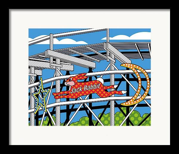 Jack Rabbit Framed Print featuring the digital art Jack Rabbit by Ron Magnes