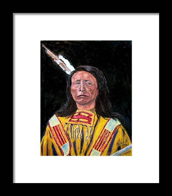 Indian Framed Print featuring the painting Jack Red Cloud by Stan Hamilton