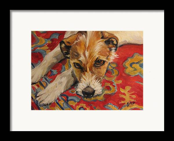 Dog Framed Print featuring the painting Jack Russell by Cheryl Pass