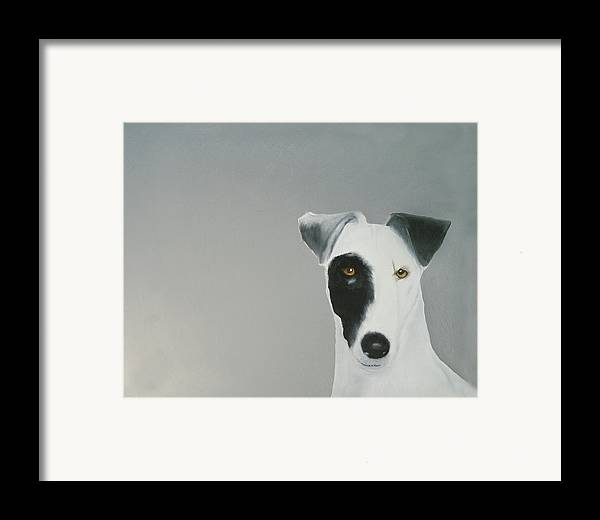 Framed Print featuring the painting Jack Russell by Dick Larsen