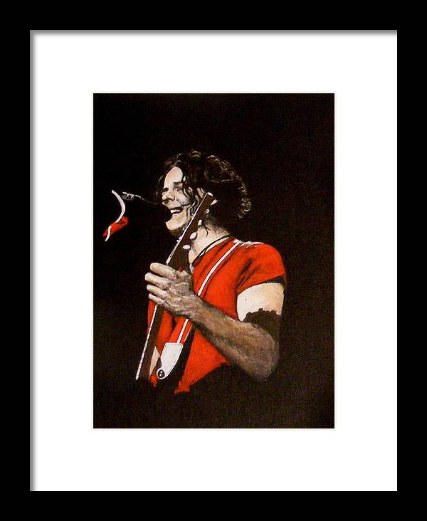 Jack White Framed Print featuring the painting Jack White by Luke Morrison