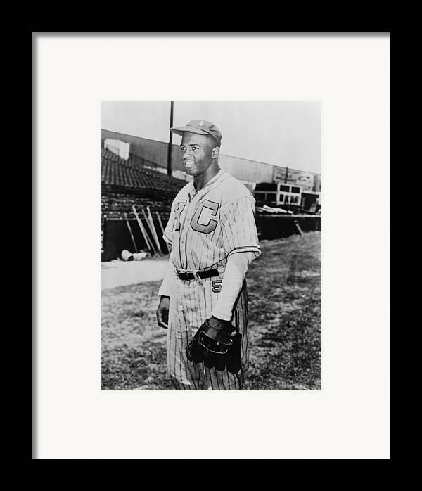 History Framed Print featuring the photograph Jackie Robinson 1919-1972 In Kansas by Everett