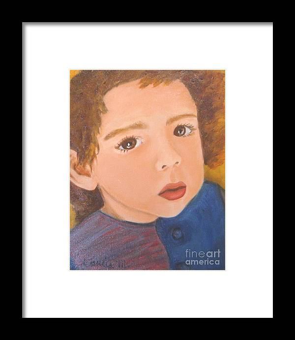 Portrait Framed Print featuring the painting Jackson by Laurie Morgan