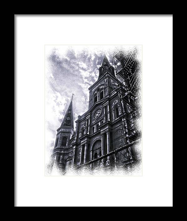 New Orleans Framed Print featuring the photograph Jackson Square Cathedral by Linda Kish