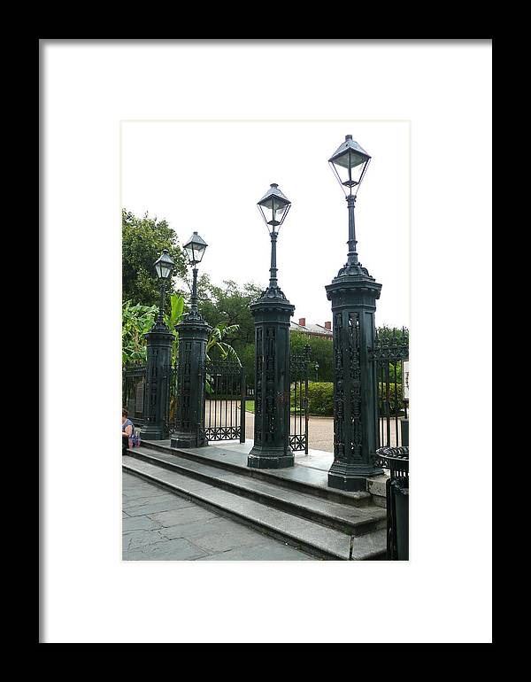 Jackson Square Framed Print featuring the photograph Jackson Square by Kathy Schumann