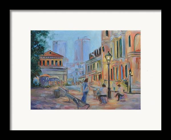 New Orleans Framed Print featuring the painting Jackson Square Musicians by Ginger Concepcion