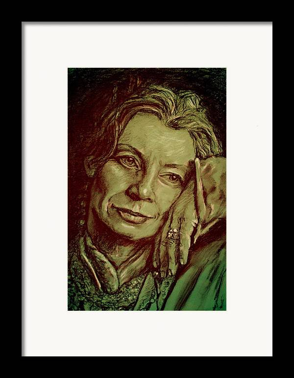 Portrait Artwork Framed Print featuring the painting Jacqueline by Dan Earle