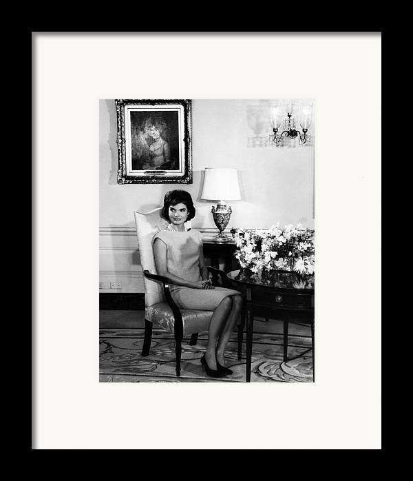 1960s Framed Print featuring the photograph Jacqueline Kennedy, Circa. 1960s by Everett