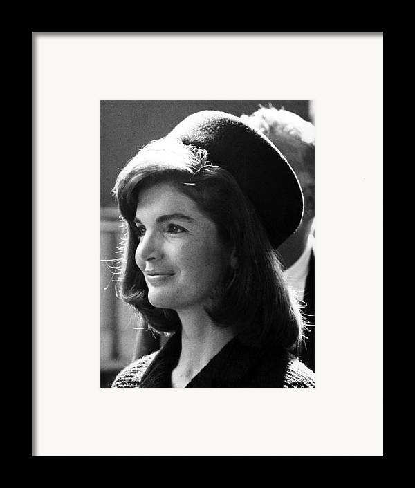 1960s Framed Print featuring the photograph Jacqueline Kennedy, Joins The President by Everett