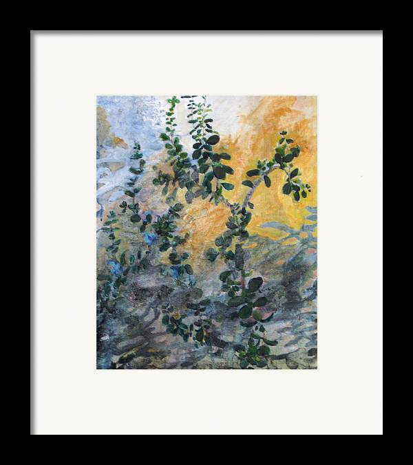 Garden Framed Print featuring the painting Jade by Alicia Kroll