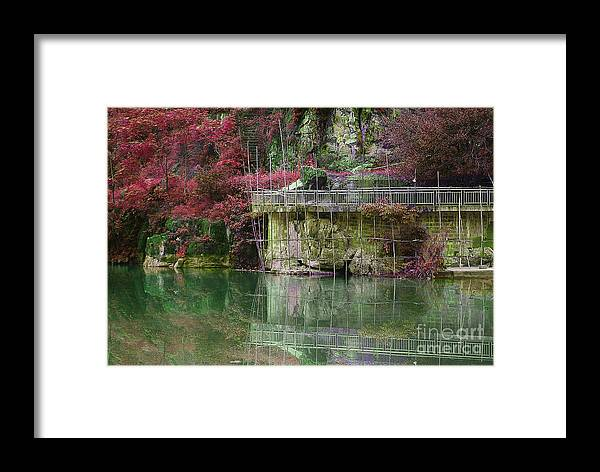 Landscape Framed Print featuring the photograph Jade Waters by Dot Xie