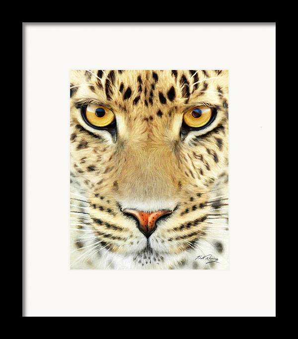 Wildlife Art Framed Print featuring the painting Jaguar by Bill Fleming