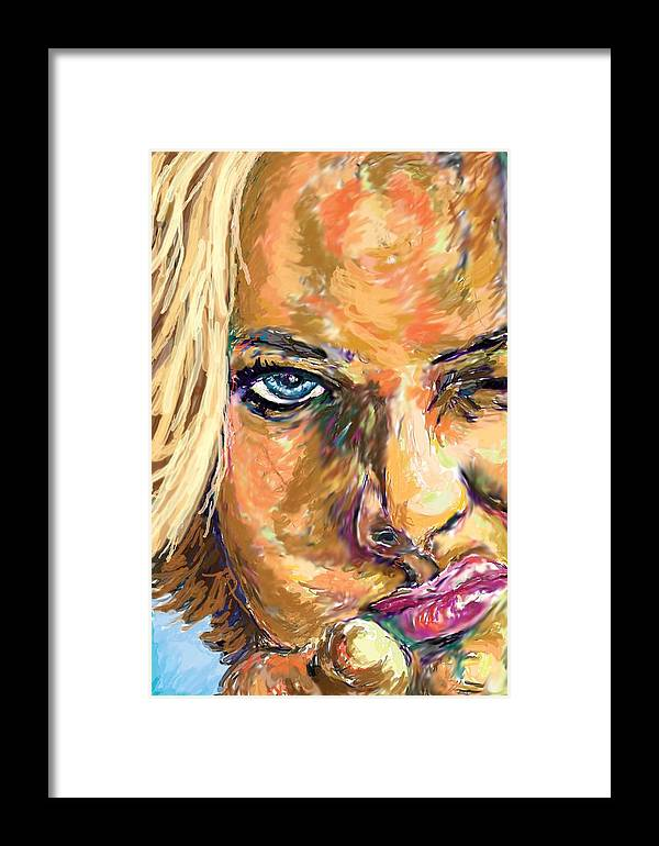 Jaime Pressly Framed Print featuring the painting Jaime Pressly by Travis Day