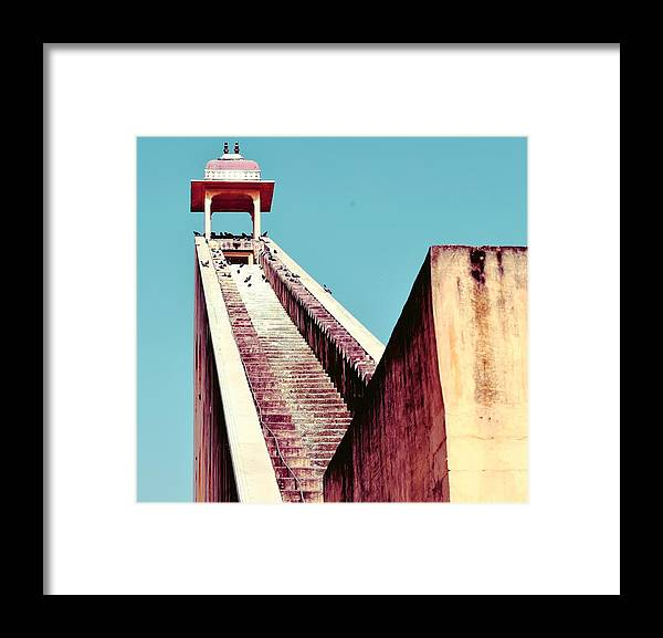 Jantra Mantra - Jaipur Framed Print featuring the photograph Jaipur by Gautam Ohri