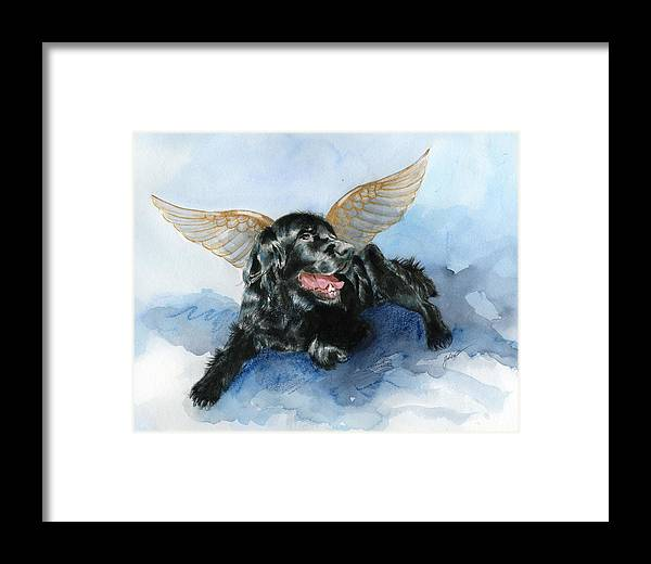 Dog Framed Print featuring the painting Jake Angel by Galen Hazelhofer