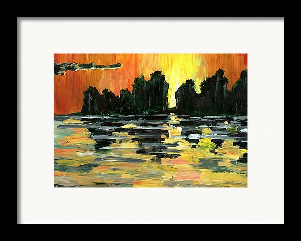 Jungle Framed Print featuring the painting Jalisco Jungle River by Randy Sprout