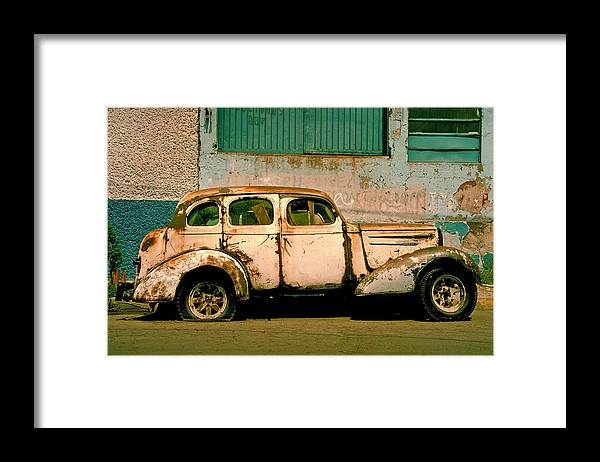 Skip Framed Print featuring the photograph Jalopy by Skip Hunt
