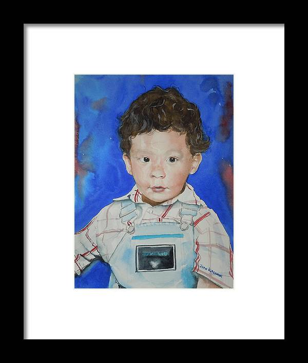 Boy Framed Print featuring the painting Jamal by Jean Blackmer