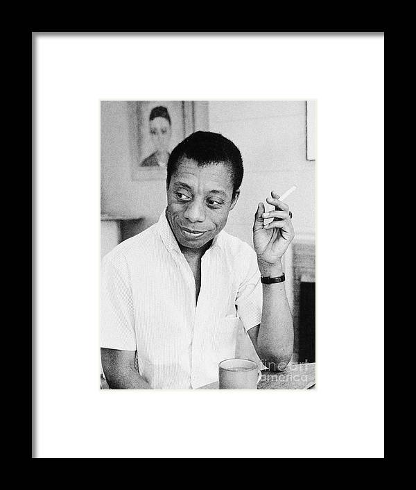 1950s Framed Print featuring the photograph James Baldwin by Granger