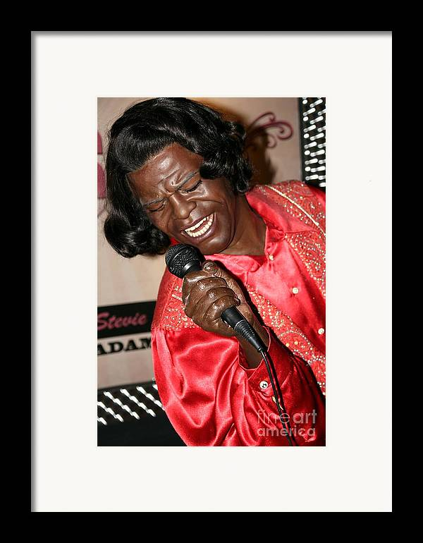 James Brown Framed Print featuring the photograph James Brown by Sophie Vigneault