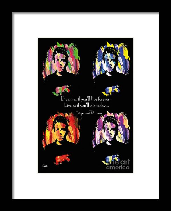 James Dean Framed Print featuring the digital art James Dean by Mo T