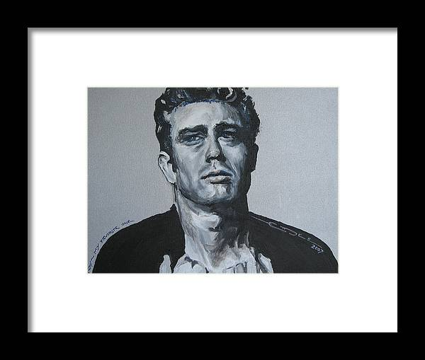 James Dean Framed Print featuring the painting James Dean One by Eric Dee