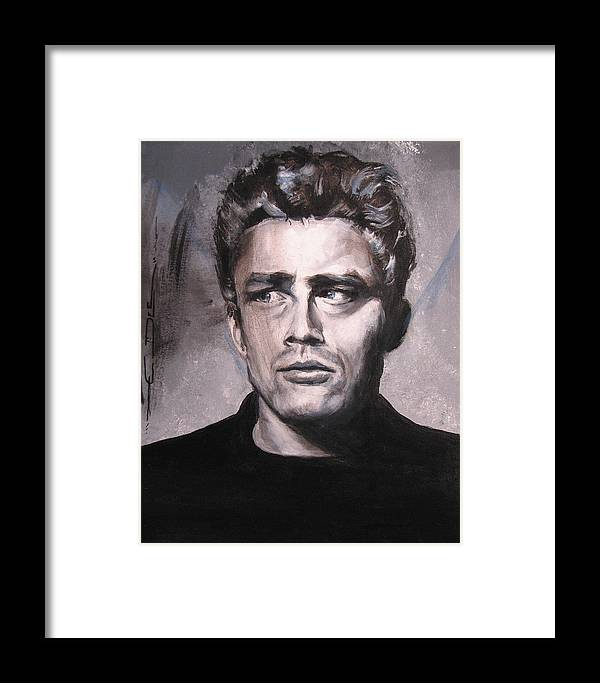 James Dean Framed Print featuring the painting James Dean Two by Eric Dee