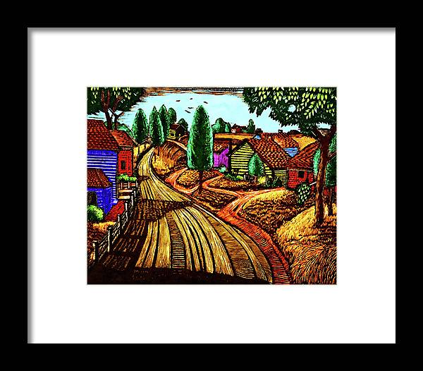 James Lesesne Wells Framed Print featuring the digital art James Lesesne Wells' Farmlands by Timothy Bulone