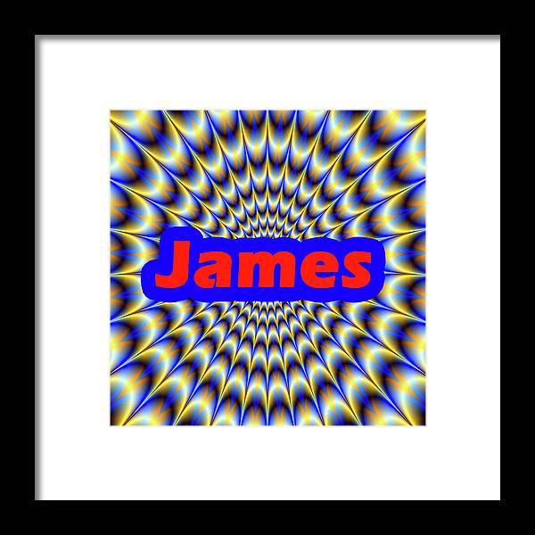 Men Framed Print featuring the digital art James by Mitchell Watrous