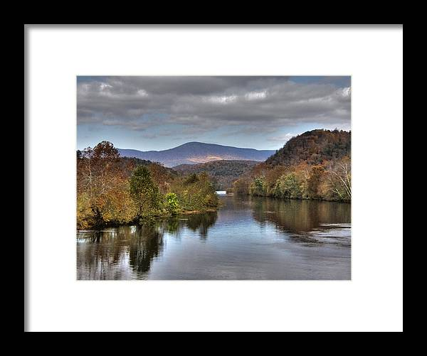 Landscape Framed Print featuring the photograph James River 1 by Michael Edwards