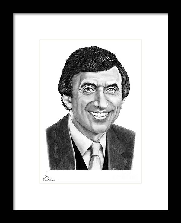 Pencil Framed Print featuring the drawing Jamie Farr by Murphy Elliott