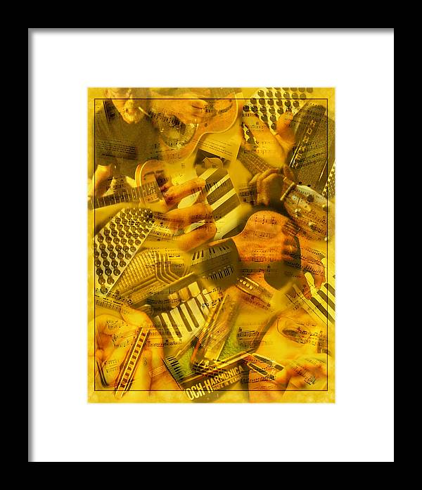 Guitar Framed Print featuring the photograph Jammin by Linda McRae