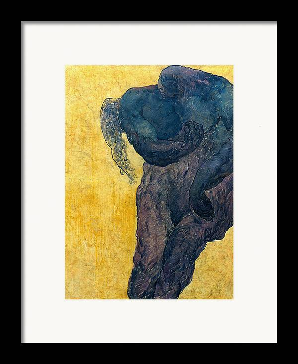 Nude Framed Print featuring the painting Jan 1 by Valeriy Mavlo