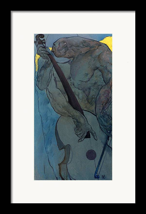 Nude Framed Print featuring the painting Jan 2 by Valeriy Mavlo