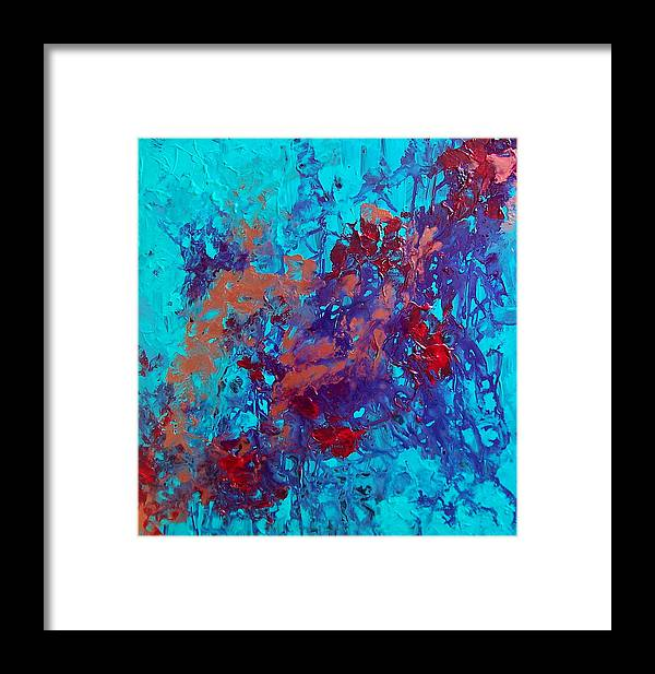 Purple Framed Print featuring the painting Jan by Jess Thorsen