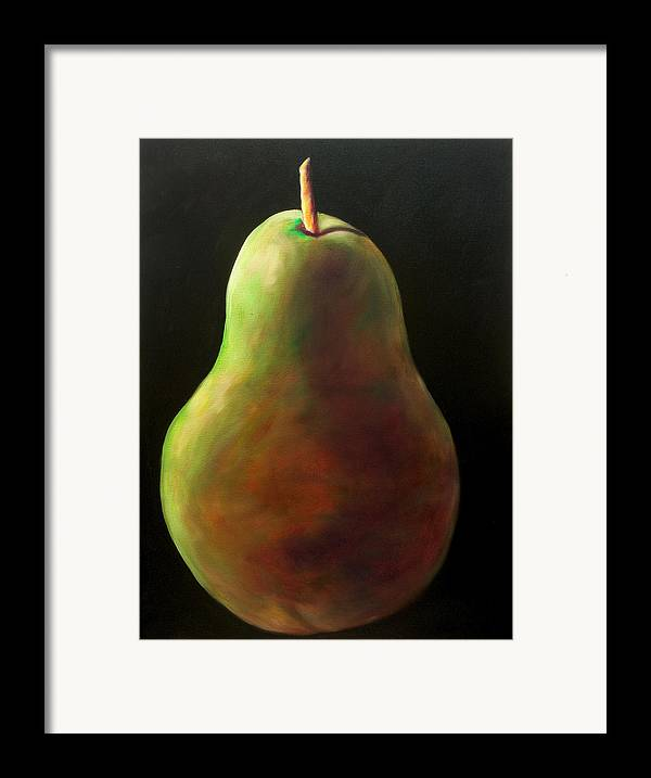 Pear Framed Print featuring the painting Jan by Shannon Grissom