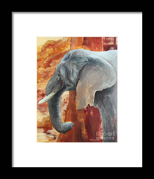 Animal Framed Print featuring the painting Jana by Todd Blanchard