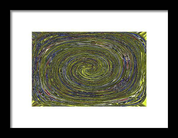 Janca Abstract #6731eca1b Framed Print featuring the digital art Janca Abstract #6731eca1b by Tom Janca