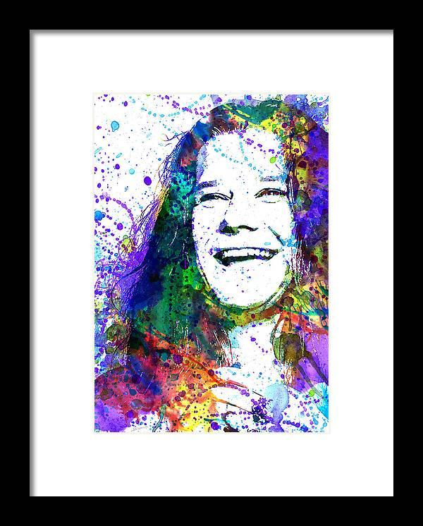 Janis Joplin Framed Print featuring the painting Janis Joplin by Dante Blacksmith