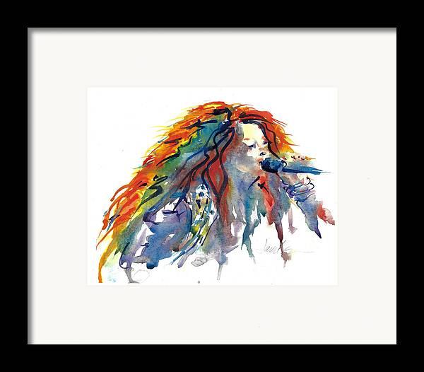 Figure Painting Framed Print featuring the painting Janis Joplin by Jacki Kellum