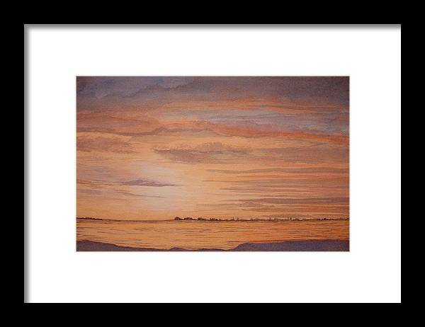Landscape Framed Print featuring the painting January Sunrise by Lynn ACourt