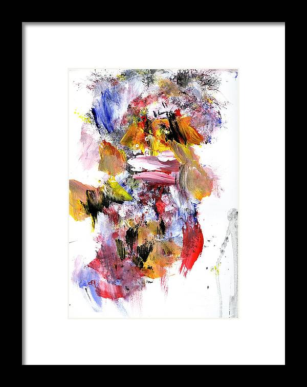 Abstract Framed Print featuring the painting Japanese Mother And Child by Dr Ernest Williamson III
