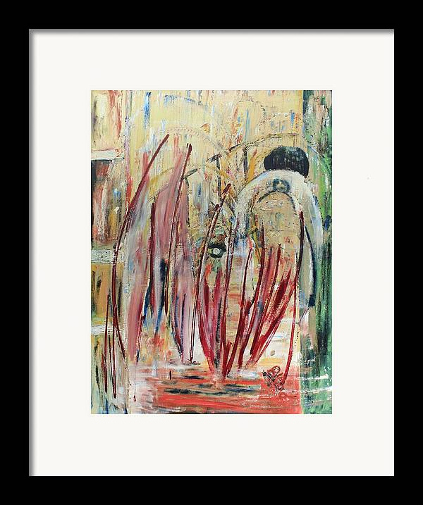 Figurative Framed Print featuring the painting Japan Town by Peggy Blood