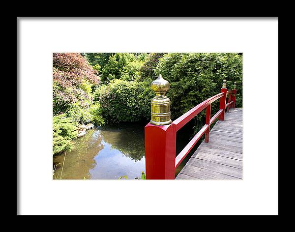 Architecture Framed Print featuring the photograph Japanese Bridge by Sonja Anderson